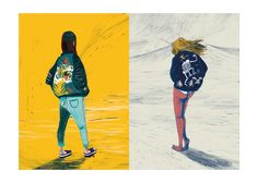 "kerousel: "" Sapporo Girls — ongoing series © kero 2016 https://www.behance.net/gallery/40545609/Sapporo-Girls Pupazzette give zero fucks. """