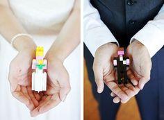 legos cake topper mariage