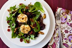 Field Greens with Spiced Walnuts and Goat Cheese | Confections of a Foodie Bride