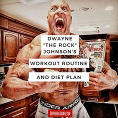 """trainingsplan muskelaufbau Dwayne """"The Rock"""" Johnson's Workout Routine and Diet: How the Sexiest Man Alive Trains to be Superhero Jacked! Dwayne Johnson Diet, Dwayne Johnson The Rock, Rock Johnson, Dwayne Johnson Quotes, Workout Plan For Men, Workout Routine For Men, Workout Plans, Gym Plans, 300 Workout"""