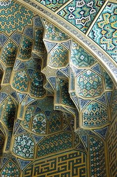 Esfahan-i tile work. (iran) love this pattern for designing