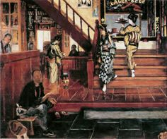 A scene of meat restaurant, Kimura Shohachi / 木村荘八. Meat Restaurant, Traditional Japanese Art, Japanese Interior, Japanese Painting, Japan Art, Art And Architecture, Impressionism, Cool Art, Past