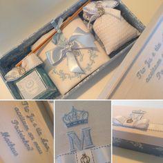 Lembranças para bebes, aniversários, batizados, caixas organizadoras para maternidade, toalhas em linho bordadas e enxoval para bebe.
