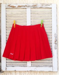 A personal favorite from my Etsy shop https://www.etsy.com/il-en/listing/467465830/60s-skirttennis-skirt-red-skirt-womens