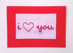 Love Cards Embroidery and Hand Stitched by benedettacraftyshop, $5.00  #iloveyouthismuch #greetingcard #iloveyou #valentinesday #valentine #love #handmade #loveisintheair #eternallove