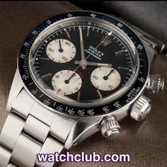 "Rolex Cosmograph Daytona Vintage - ""Black Dial"" REF: 6263 Rolex Cosmograph Daytona, Rolex Daytona, Fine Watches, Watches For Men, Wrist Watches, Luxury Watches, Rolex Watches, Rolex Vintage, Rolex Tudor"