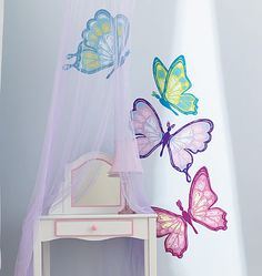 Bon Decorating With Butterflies In Little Girlu0027s Room
