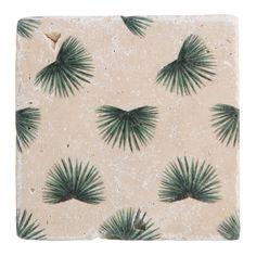 YAYA SS'16 | P FOR PALMPRINT | PRINTED TILE TROPIC #Pforpalmprint #YAYASS16 #YAYAHOME #Interior #Homedecor #Tile #Stone #Palmprint #Teatime #Wantsomegreentea