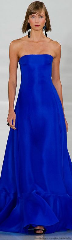 Don't know where I would wear it, but this is gorgeous! I love the color! Ralph Lauren | S/S 2014