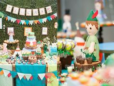 Festa Peter Pan: em feltro, muito fofa! Peter Pan Birthday Party: felt, so cute!