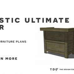 Free DIY Furniture Plans to Build an Ultimate Rustic Bar