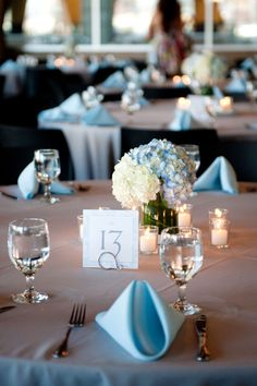 #sky blue wedding table ... Wedding ideas for brides, grooms, parents planners ... https://itunes.apple.com/us/app/the-gold-wedding-planner/id498112599?ls=1=8 ... plus how to organise your entire wedding ... The Gold Wedding Planner iPhone App ♥