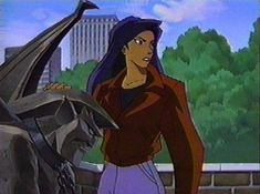 Elisa protects Goliath in the park while Goliath is in stone-sleep & all chained up by Demona & Macbeth. Live Action Movie, New Series, Elisa Maza, True Love, Beast, Sleep, Photo And Video, Stone, Disney Characters