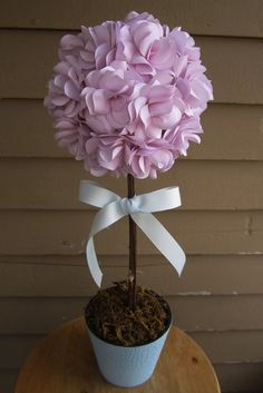 (Center piece ?) Custom Paper Floral Topiary Centerpiece. Ideal by PAPERFLORISTS, $45.00
