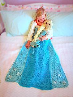 Crochet Princess Blanket, Crochet Bobble Blanket, Afghan Crochet Patterns, Crochet Toddler, Crochet Baby, Frozen Pattern, Crochet Crafts, Yarn Crafts, Crochet Ideas