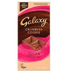 Galaxy Vegan Crumbled Cookie Chocolate Bar 🥰 @tescofood Vegan Friendly ✅ Dairy Free ✅ Vegan Gluten Free, Dairy Free, Vegan Crumble, Uk Supermarkets, Chocolate Cookies, Vegan Friendly, Vegan Products, Recipes, Bar