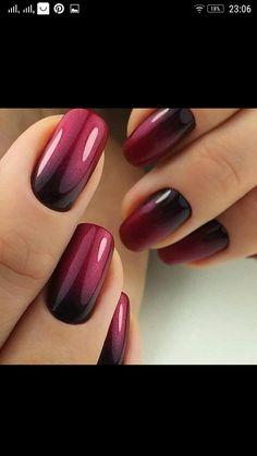 Ombre Nail Designs, Nail Art Designs, Nails Design, Fall Toe Nail Designs, Stylish Nails, Trendy Nails, Nagellack Design, Nagellack Trends, Mauve Nails