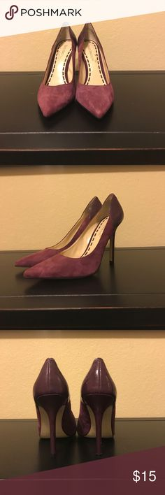 """Purple Suede and Patent pointed toe heels Enzo Angiolini Purple Suede and Patent pointed toe heels, darker purple patent material on the back and the heel,  lighter purple Suede on the rest of the heel. Heel height 4"""". Enzo Angiolini Shoes Heels"""