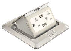 FBCVSS-U-KIT/Pop Up Floor Box Kit with 2-20 Amp receptacles & 2 USB