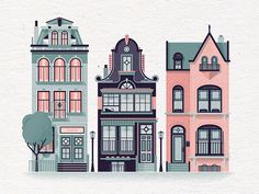 Row Houses #2 by Nick Matej