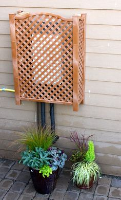 How To Aesthetically Hide An Electric Meter Box Hanging On