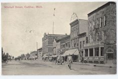 Cadillac, Michigan - Mitchell Street town view - c.1912