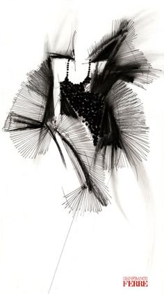 Fondazione Gianfranco Ferré / Collections / Woman / Prêt-à-Porter / 1991 / Fall / Winter Fashion Illustration Sketches, Fashion Sketchbook, Fashion Sketches, Illustration Art, Drawing Sketches, Drawings, Paper Fashion, Fashion Art, Fashion Design Portfolio