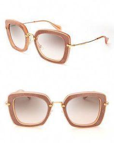 13ac87d7ececd Miu Miu Noir Thick Geometric Cateye Sunglasses  MiuMiu