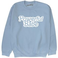 Powerful Babe Sweatshirt Feminist Pastel Grunge Kawaii Alternative... ($25) ❤ liked on Polyvore featuring tops, hoodies, sweatshirts, grunge tops, cut-out crop tops, pastel sweatshirt, crop top and pastel crop top