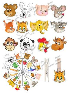 Your child has to match the animal with the food it eats. This is a great way to help your child use logic and reasoning as he learns a bit more about living things. Can your child think of other things these animals like to eat? Can be used to play memory, oral activities and so on.