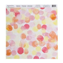 Watercolor Multi-Dots Scrapbook Paper By Recollections