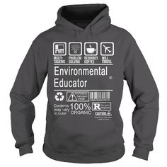 ENVIRONMENTAL EDUCATOR - CERTIFIED JOB TITLE - #tumblr sweatshirt #sweater outfits. THE BEST => https://www.sunfrog.com/LifeStyle/ENVIRONMENTAL-EDUCATOR--CERTIFIED-JOB-TITLE-Charcoal-Hoodie.html?68278