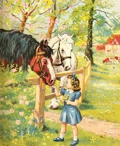 I remember seeing this vintage picture in one of my primary readers in 1962. I loved the stories and illustrations as a little girl.
