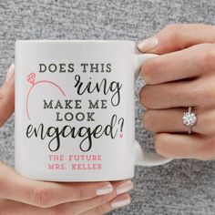 Get up to off all custom mugs - FREE personalization & fast shipping. Make your own custom coffee mugs at Personalization Mall! Create personalized mugs for anyone you love with special messages, names, photos & other custom details. Bride Gifts, Wedding Gifts, Wedding Stuff, Dream Wedding, Exotic Wedding, Perfect Wedding, Mafia, Engagement Mugs, Engagement Pictures