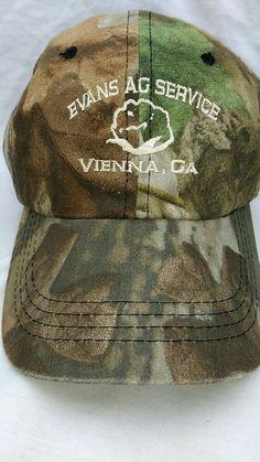 c6d456c399f Evans Ag Service Cap Cotton Vienna Ga Advantage Timber Agriculture Camo Hat