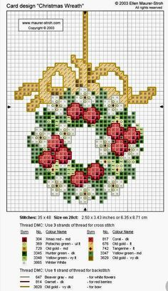Counted Christmas embroidery