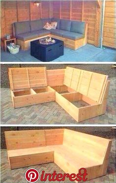 Ideas for outdoor benches made from recycled wooden pallets palle…… --Ideen für Außenbänke aus recycelten Holzpaletten palle … … – Diyprojectgardens.club Ideas for outdoor benches made from recycled wooden pallets palle … … # wooden pallets - Pergola Diy, Diy Patio, Backyard Patio, Backyard Toys, Pergola Ideas, Outdoor Furniture Plans, Diy Furniture, Furniture Projects, Rustic Furniture
