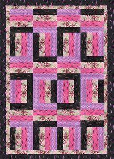 Moda Fabrics Baby Quilt Pre-Cut 12 Block Log Cabin Quilt Kit ... : better quilt kits - Adamdwight.com