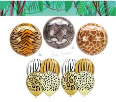 Safari Balloons Animal Print Balloons Round Orbz Safari Balloons Latex Animal Print Safari Balloons