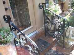 Wrought Iron Porch Railings, Stair Railing, Outside Stairs, Iron Handrails, Wilmington Nc, House, Ideas, Iron Decor, Stair Banister