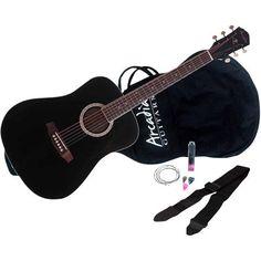"Fingerhut - Arcadia 38"" Acoustic Guitar Kit in Black"