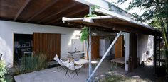 D House in Brisbane by Donovan Hill Architects 008 Australian Architecture, Interior Architecture, Outdoor Rooms, Outdoor Decor, Courtyard House, Outer Space, Brisbane, Canopy, Backyard