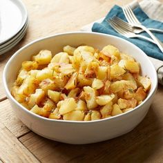 Crispy Shaken Potatoes With Rosemary | Why go mashed when there's a fresh take on straight baked?