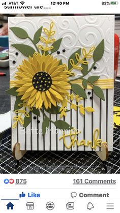 Hand Made Greeting Cards, Making Greeting Cards, Greeting Cards Handmade, Homemade Birthday Cards, Homemade Cards, Sunflower Cards, Fun Fold Cards, Stamping Up Cards, Christmas Cards To Make