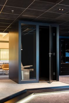 Noise pollution and visual distractions? No privacy or a workspace to focus in? Our INTO POD rooms will solve those problems! Office Noise, Index Design, Focus At Work, Office Plan, Noise Pollution, Telephone Booth, Floor Colors, Safety Glass, Design Competitions