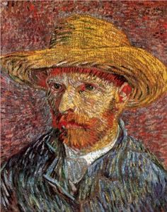 Self-Portrait with Straw Hat - Vincent van Gogh