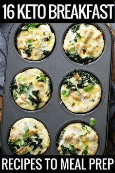19 Keto Breakfast Recipes If you're on the ketogenic diet you'll love these super easy make ahead breakfast recipes perfect for meal prep! Get ready to start your day with delicious low carb casseroles and yummy egg muffins that you can put together in minutes & grab on the go! These keto breakfast recipes make losing weight simple even if you're a beginner! #keto #ketogenicdiet #ketorecipes