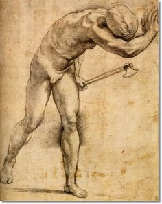 "Raphael -- drawing for the unexecuted Chigi ""Resurrection"""