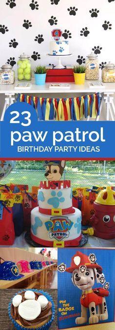 23 Paw Patrol Birthday Party Ideas Geburtstag 3rd Parties Payrol