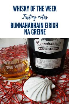 Review and Tasting notes of the Bunnahabhain Eirigh Na Greine Single Malt Whisky Wine Cask, Single Malt Whisky, Red Wine, Scotland, Notes, Report Cards, Notebook